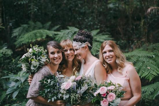 Australian bride with bridesmaids