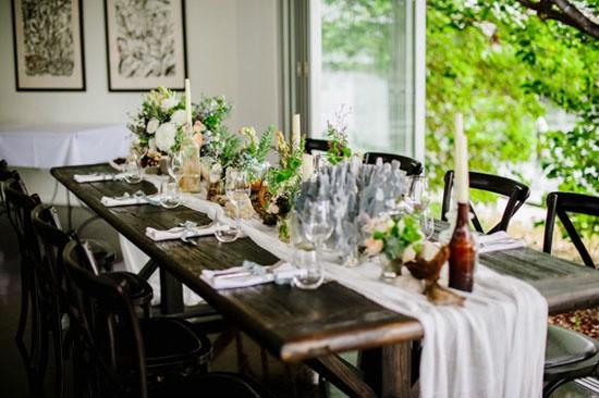 Autumn seaside wedding table