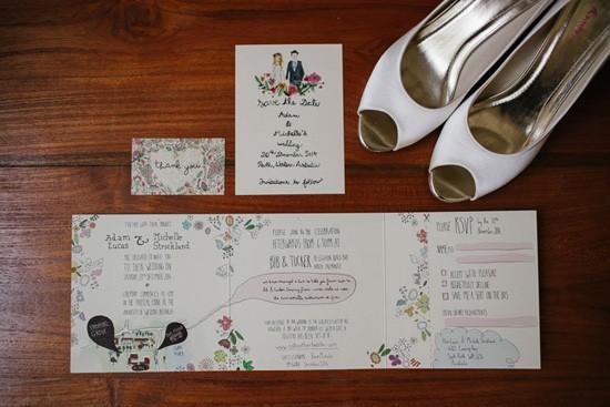 Beau est Mien wedding invitations