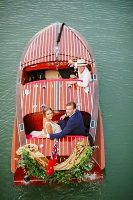 Boat wedding transport