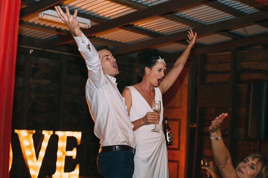 Bride and groom at Mt Nimmel Hall