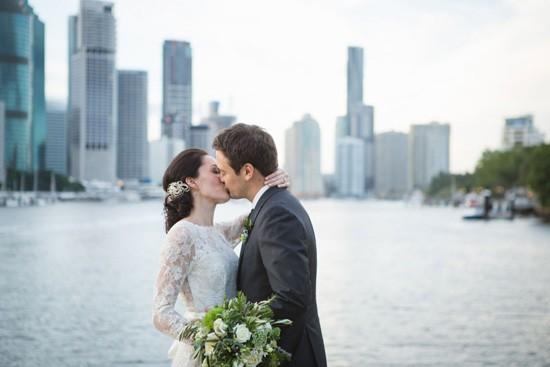 Bride and groom in Brisbane
