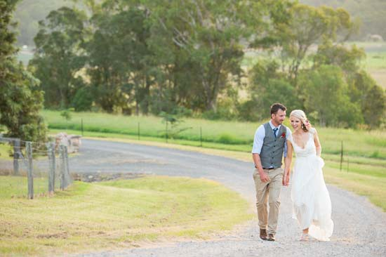 Bride in Anna Campell Emily