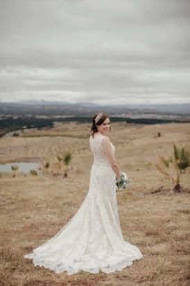 Bride wearing Maggie Sottero