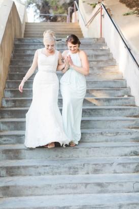 Bride with bridemsaid in Zimmerman