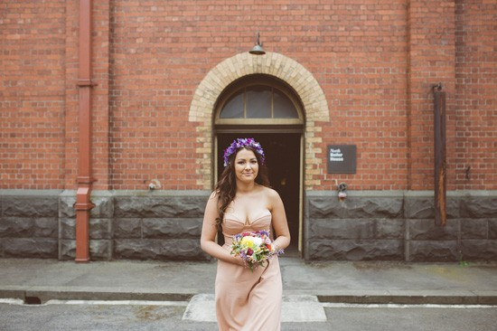 Bridesmaid in apricot