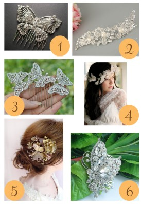 Butterfly Hairpieces