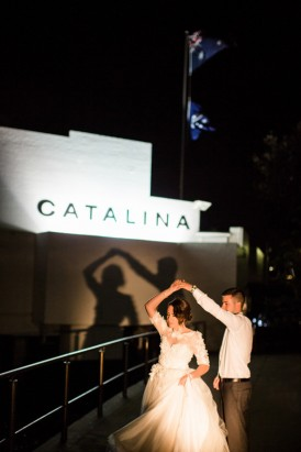 Catalina wedding moment