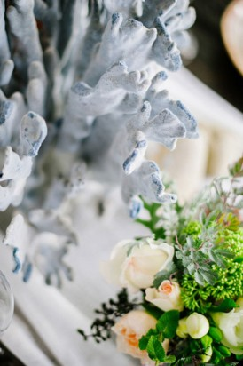 Coral and flowers wedding