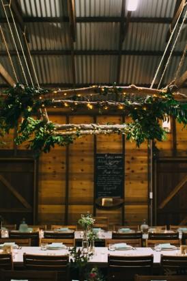Country hall wedding decor