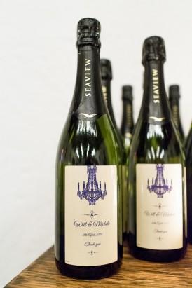 Custom wine wedding labels