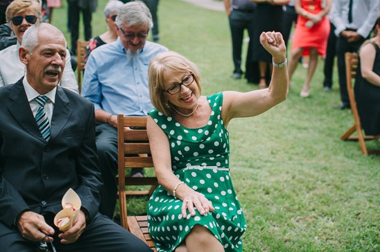 Excited parents of newlyweds