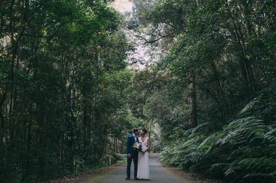 Forest wedding photo