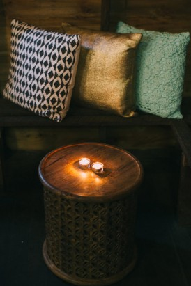 Gold and mint cushions