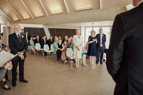 Indoor Canberra wedding ceremony