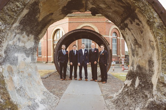 Industrial groomsmen photo