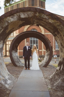 Industrial wedding photo