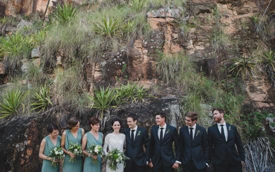 Kangaroo Point Cliffs Wedding Photo