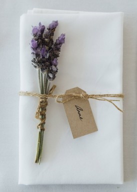 Lavender place seetting