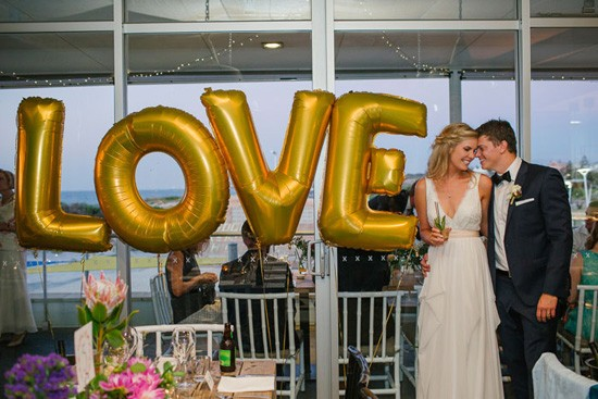 Love Letter Balloons At Wedding