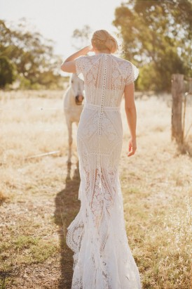Lover Wedding Dress With Train