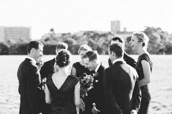 Modern Black tie wedding