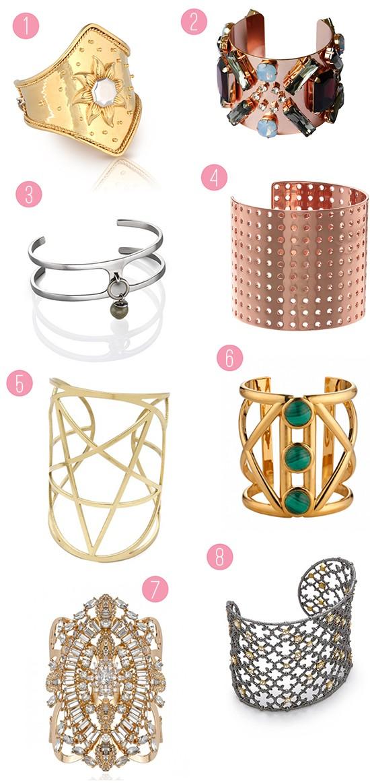 Modern Bridal Cuffs