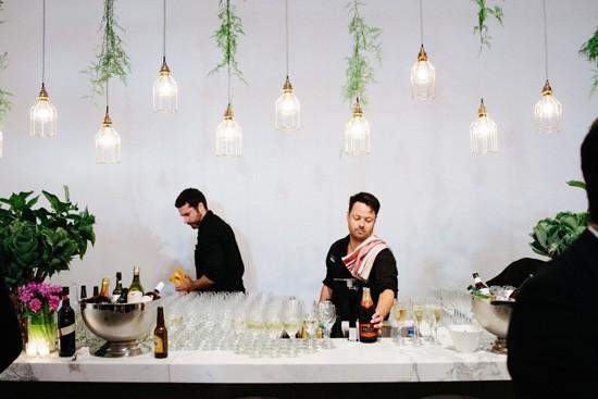Modern Wedding Bar Decor