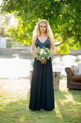Navy Sequin ridesmaid gown