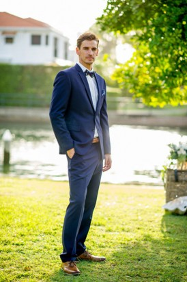 Navy suit for nautical wedding
