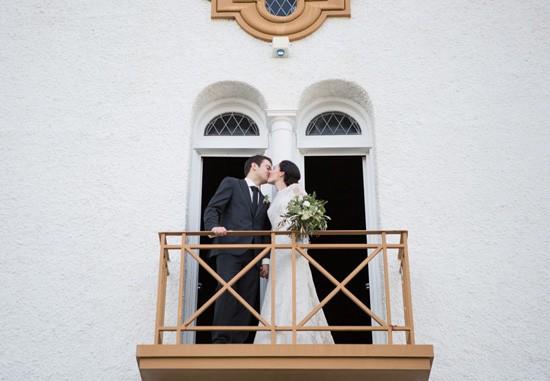 Newlyweds at Brisbane church wedding