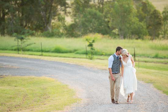 Newlyweds at Queensland Country Wedding