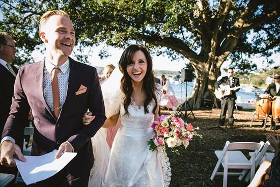 Newlyweds at Sydney Wedding