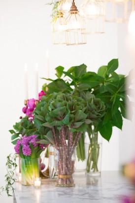 Ochid and green Wedding