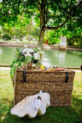 Seaside wedding decor
