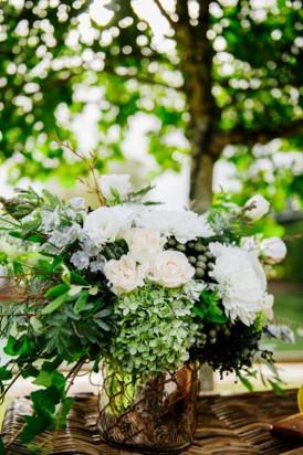 Seaside wedding flowers