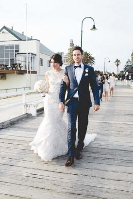 St Kilda pier bridal party