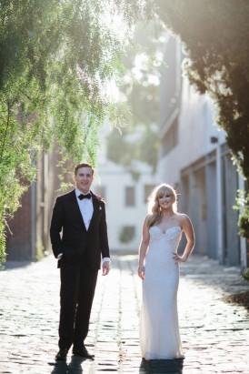 Streetscape wedding photo
