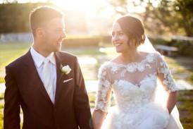 Sunset SYdney wedding photo