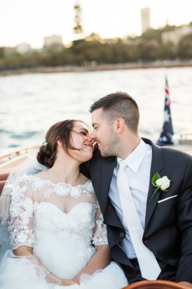 Sydney wedding Boat