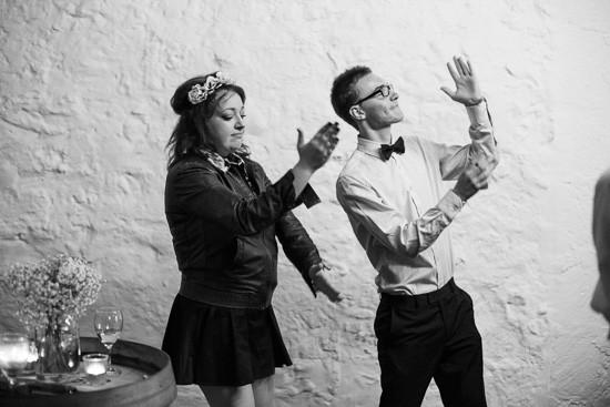Synchronised wedding dance
