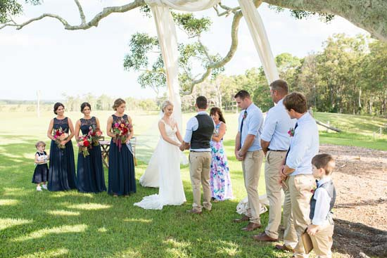 Wedding ceremony at Yandina Station