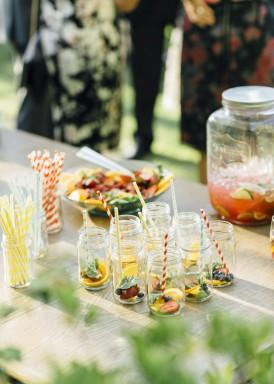 Wedding ceremony drinks