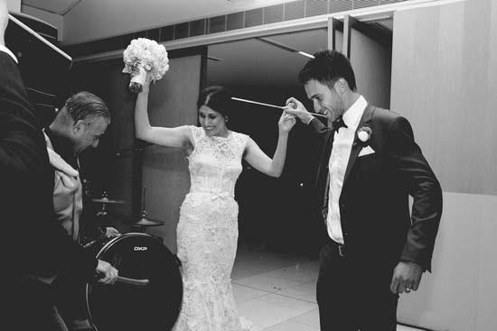 Wedding entrance at Carousel