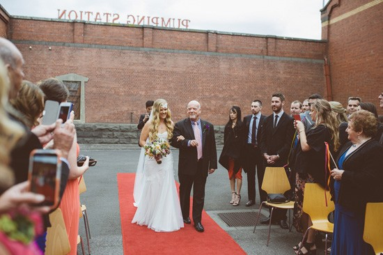 Wedding processional in Melbourne