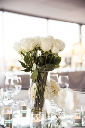 White Rose wedding centrepiece