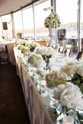 White flowers at Sydney wedding