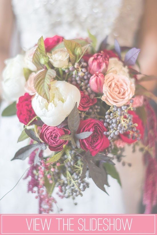 Winter wedding bouquet slideshow