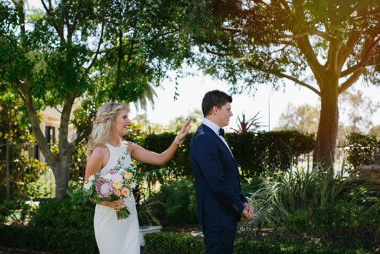 australian wedding first look