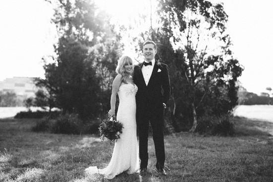 black and white melbourne wedding photo